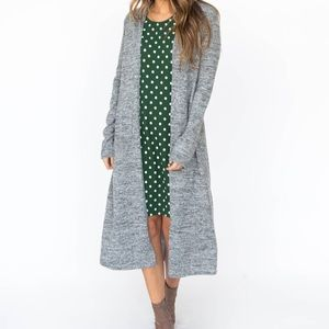 Heather Grey Brushed Duster Agnes & Dora XXS